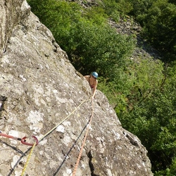 Jeanie on the slab on the 2nd pitch of Eve