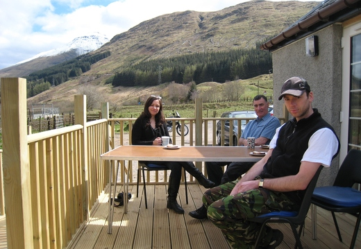 New Decking Area with view to Ben More
