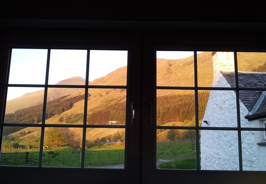 View out of new kitchen window towards Ben More