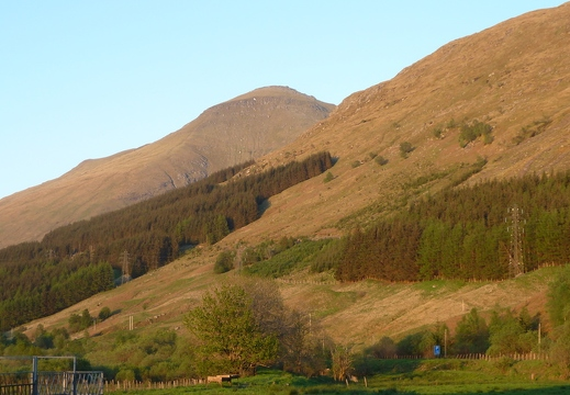 Ben More from cottage decking area