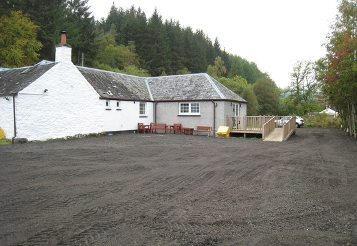 View to cottage across front car park